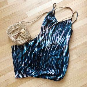 Tie Dye Print Thin Maxi Dress w/ Slits